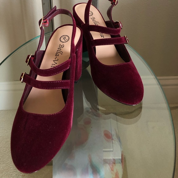 645330f8eb Bella Vita Shoes | Velvet Burgundy Nessa Ii Dress Pump | Poshmark